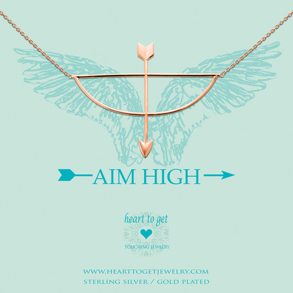 Aim High collier rose