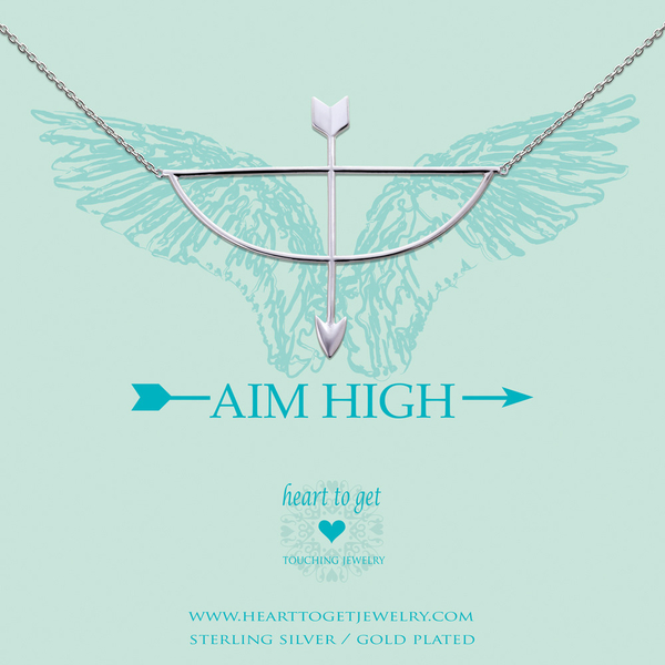 Aim High collier zilver
