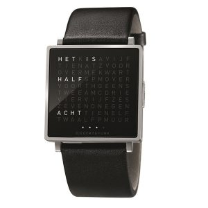 QlockTwo horloge Polished/Brushed