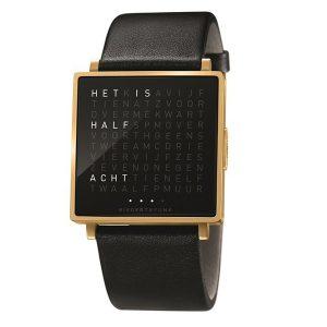 QlockTwo horloge Gold