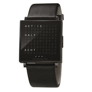 QlockTwo horloge Black