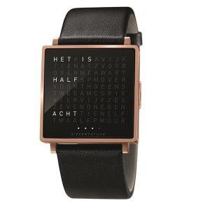 QlockTwo horloge Roségold