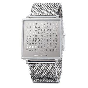 QlockTwo horloge Fine Steel