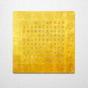 QlockTwo klok Gold 45x45cm