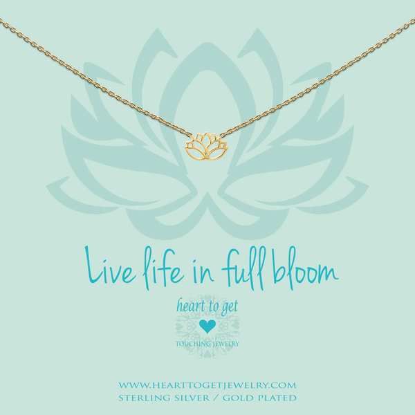 Live Life in Full Bloom collier goud