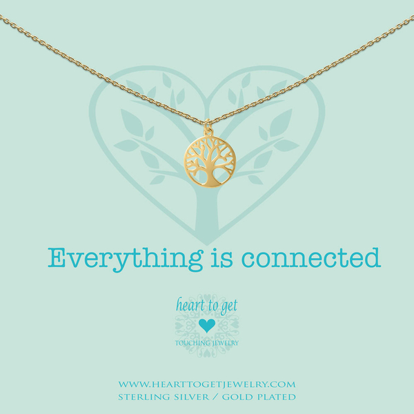 Everything is Connected collier goud