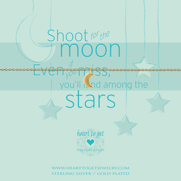 Shoot for the moon armband goud