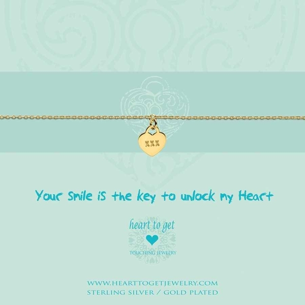 Your smile is the key... armband goud