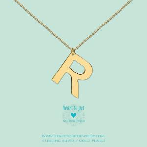 Big Initials collier R goud