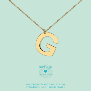 Big Initials collier G goud