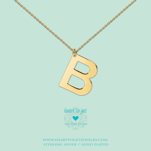 Big Initials collier B goud