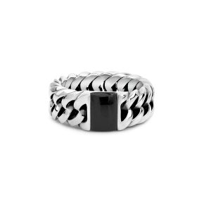 Chain Stone Onyx ring