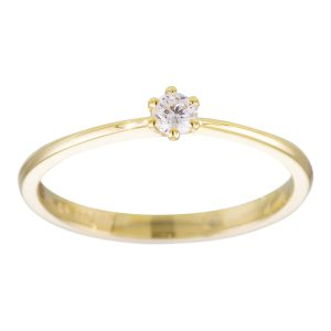 Gouden solitaire ring 214.2006