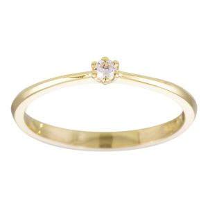 Gouden solitaire ring
