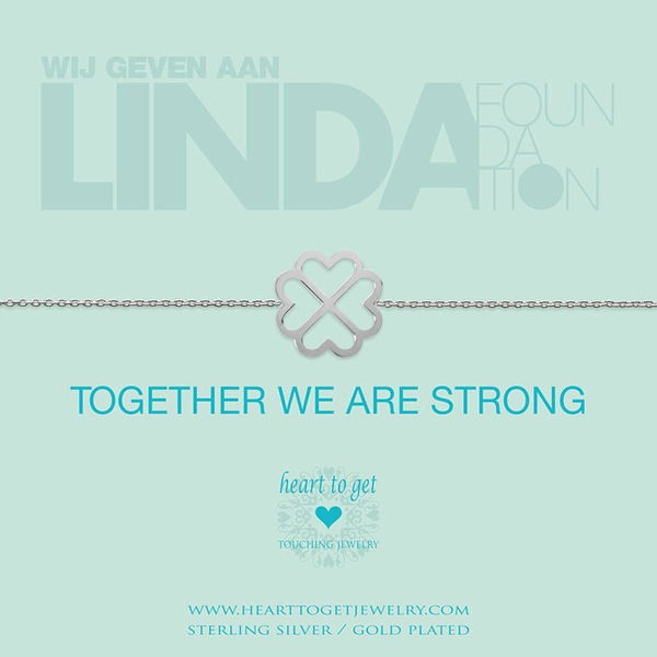 Armband 'Together we are strong' LINDA. foundation Zilver