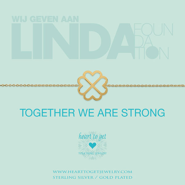 Armband 'Together we are strong' LINDA. foundation Goud