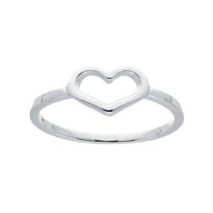 Ring open hart zilver 114.6252.48