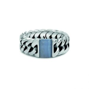 Ring Chain Stone Blue Lace Agate