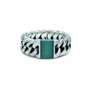 Ring Chain Stone Green