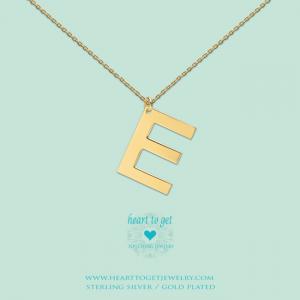 Big Initials collier E goud