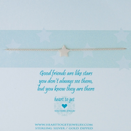 Good friends are like stars armband