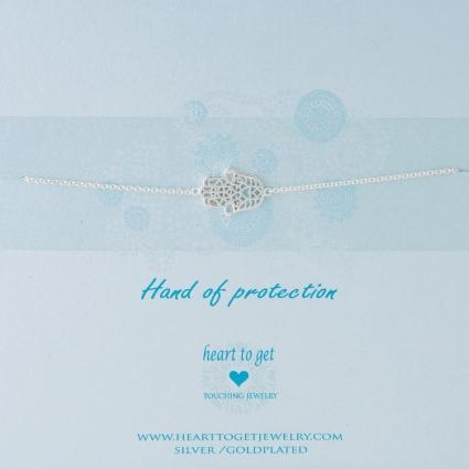 Hand of protection armband