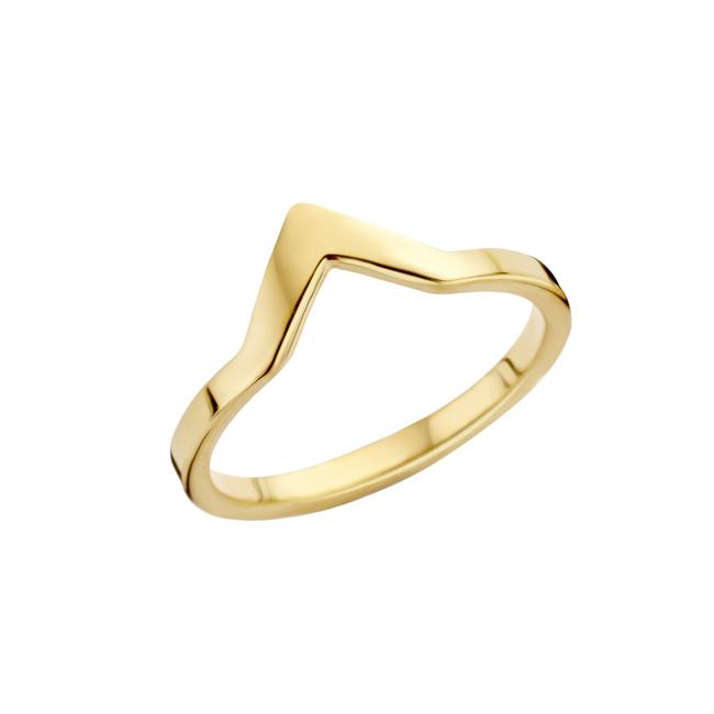 friends pointed ring goudkleurig