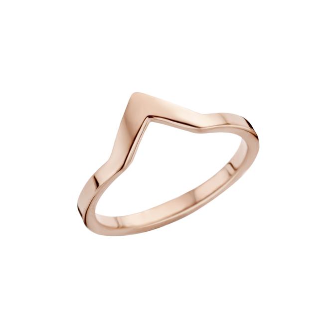friends pointed ring rosekleurig