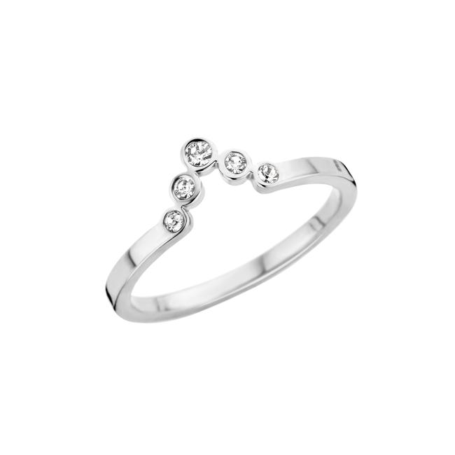 friends pointed cz ring zilverkleurig