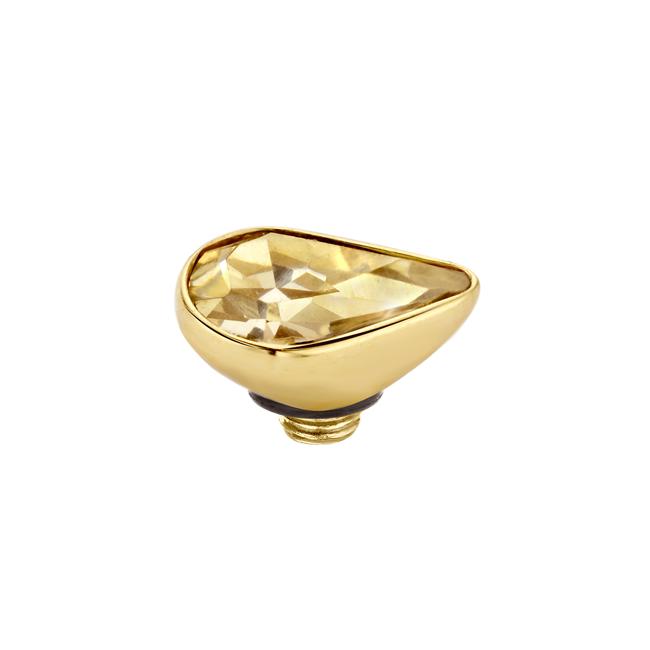 twisted mini pear cz goud