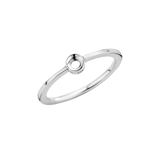 twisted petite ring stainless steel