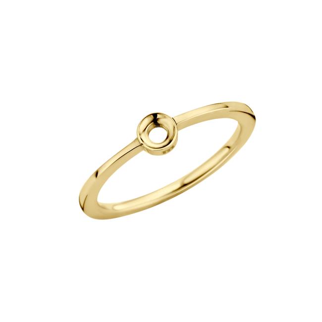 twisted petite ring goudkleurig