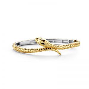 Ti Sento armband - Armband in de vorm van een goudkleurige slang - Te koop bij Sparnaaij Juweliers in Aalsmeer en Hoofddorp