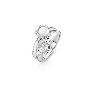 Ti Sento ring - De ring bestaat eigenlijk uit twee ringen, die zijn gecombineerd in één ontwerp volgens het TI SENTO Mix & Match concept. - Te koop bij Sparnaaij Juweliers in Aalsmeer en Hoofddorp