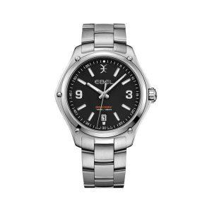 Heren horloge van de Ebel Discovery collection - uitgevoerd met stalen band en kast en waterdicht tot 100 meter - De Ebel collectie is verkrijgbaar bij Sparnaaij Juweliers in Aalsmeer