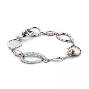 Ti Sento armband - Armband met parelmoer en rosé goud - Te koop bij Sparnaaij Juweliers in Aalsmeer en Hoofddorp