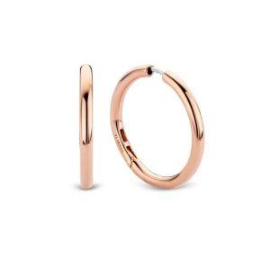 Ti Sento oorbellen - Deze klassiek ronde oorbellen gemaakt van verguld roségoud voegen een bohemian chic allure toe aan je look. - koopt u bij Sparnaaij Juweliers in Aalsmeer en Hoofddorp