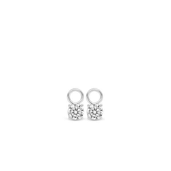 Ti Sento oorbedels - De De elegante oorbedels zijn gezet met briljant geslepen zirkonia's, die een doorsnede van 6 mm hebben. - koopt u bij Sparnaaij Juweliers in Aalsmeer en Hoofddorp