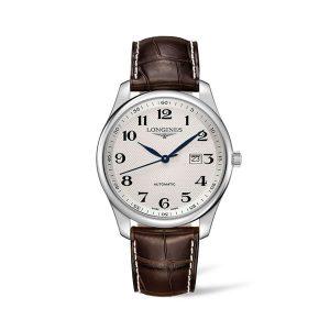 Heren horloge uit de Longines Master collection - uitgevoerd met lederen band en stalen kast - De Longines collectie is verkrijgbaar bij Sparnaaij Juweliers in Aalsmeer