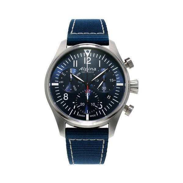De startimer pilot chronograph quartz AL-371NN4S6 koopt u bij Sparnaaij Juweliers