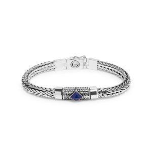 Buddha to Buddha armbandn Ellen XS Steen blauw