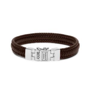 Buddha to Buddha Edwin small leather brown armband - Te koop bij Sparnaaij Juweliers in Aalsmeer en Hoofddorp
