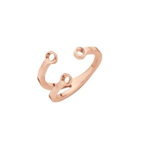 Melano twisted trio stone ring rosé - Te koop bij Sparnaaij Juweliers in Aalsmeer en Hoofddorp