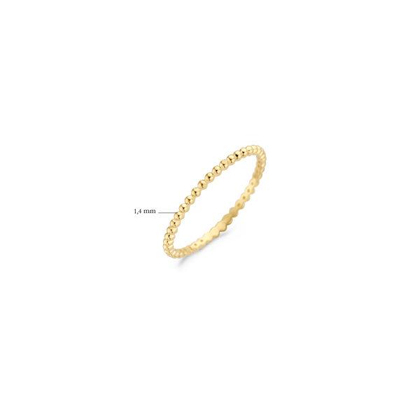 Blush 14k geelgouden ring met bolletjes - Te koop bij Sparnaaij Juweliers in Aalsmeer