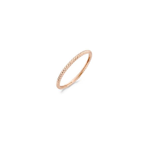 14K roségouden Blush ring met vlechtpatroon - Te koop bij Sparnaaij Juweliers in Aalsmeer en Hoofddorp