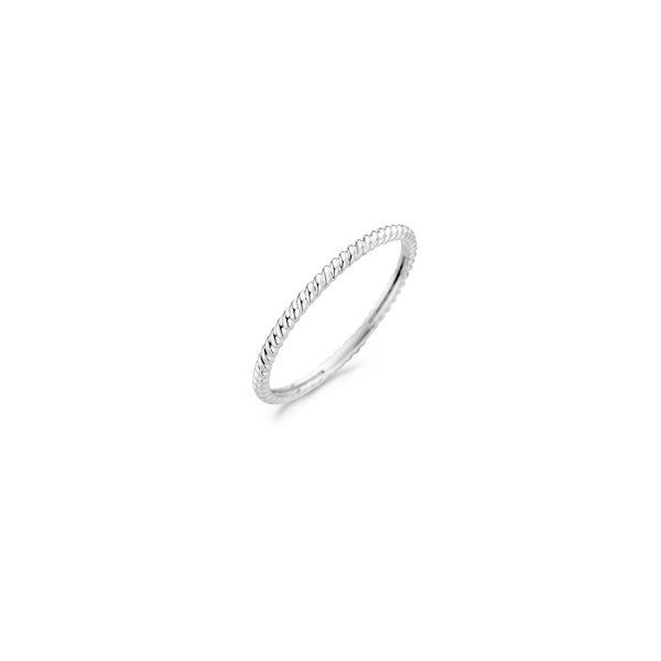 14K witgouden Blush ring met vlecht patroon - Te koop bij Sparnaaij Juweliers in Aalsmeer en Hoofddorp
