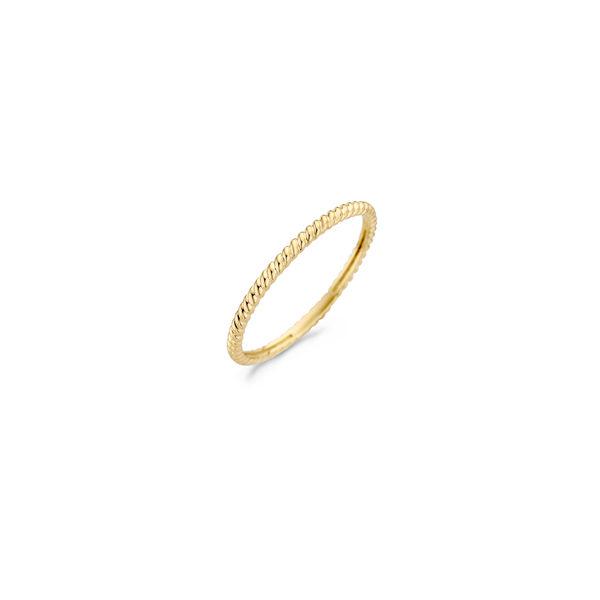 14K geelgouden Blush ring met vlechtpatroon - Te koop bij Sparnaaij Juweliers in Aalsmeer en Hoofddorp