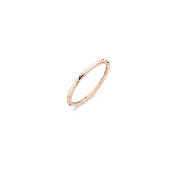 14K roségouden gladde ring van Blush - Te koop bij Sparnaaij Juweliers in Aalsmeer en Hoofddorp