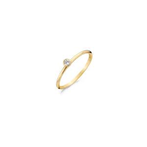 14K geelgouden Blush ring met in het midden een zirkonia steen - Te koop bij Sparnaaij Juweliers in Aalsmeer en Hoofddorp