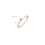 14K roségouden ring van Blush met zirkonia steentjes - Te koop bij Sparnaaij Juweliers in Aalsmeer en Hoofddorp